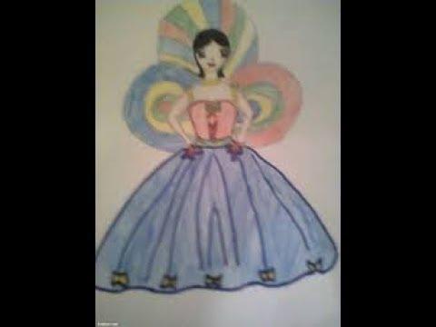 صور رسم عروسة المولد , ازاي اعرف ارسم عروسه مولد بتفاصيلها