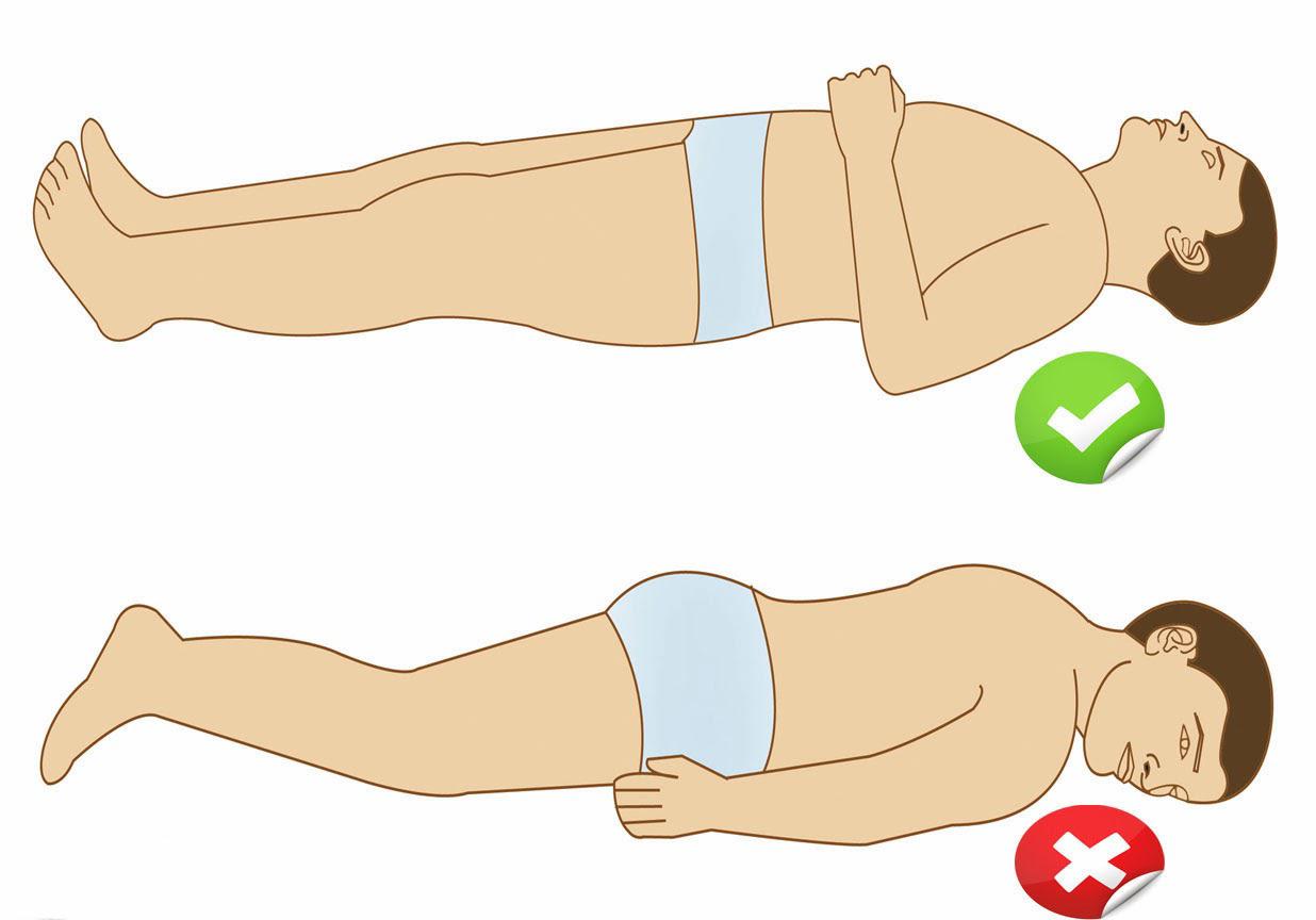 صور النوم الصحي للبواسير , طرق النوم الصحيحه لمرضي البواسير