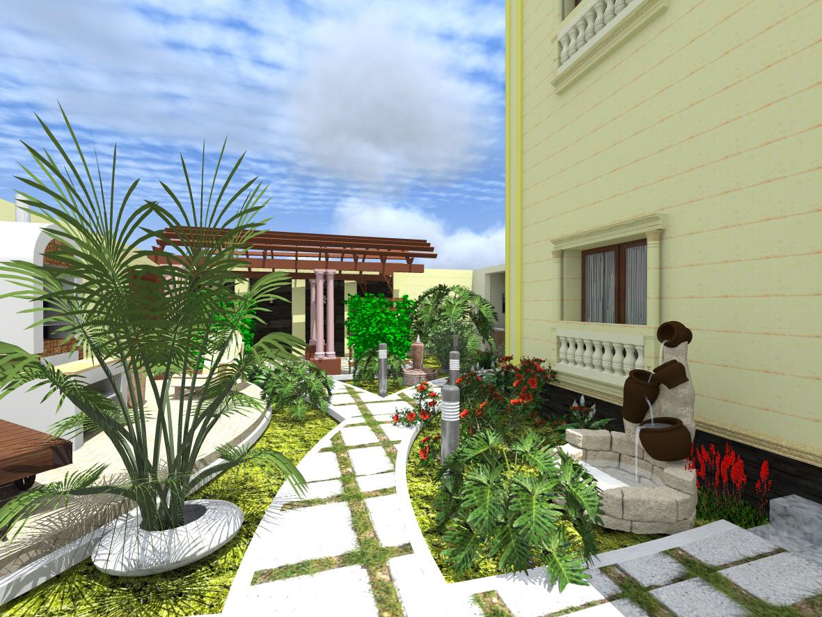 بالصور تصميم حدائق منزلية بسيطة , اجمل صور للحدائق المنزليه 4565 9
