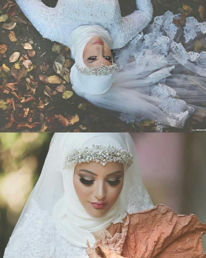 بالصور صور عروسات محجبات , اجمل صورة للعرايس المرتديه حجاب 4644 10