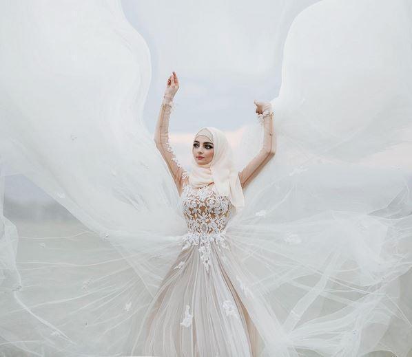 بالصور صور عروسات محجبات , اجمل صورة للعرايس المرتديه حجاب 4644 11
