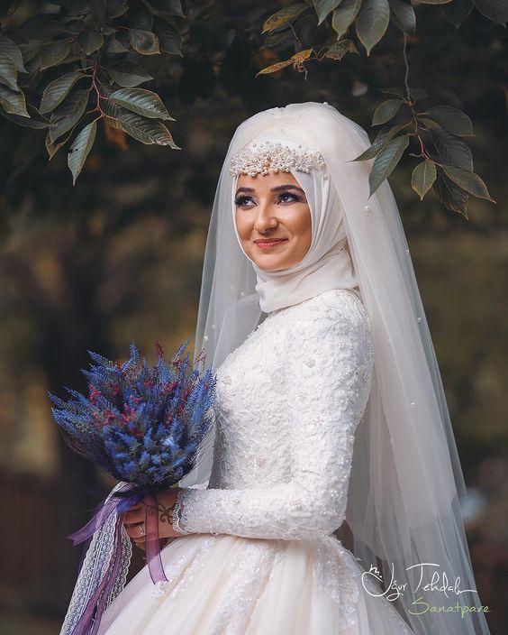 بالصور صور عروسات محجبات , اجمل صورة للعرايس المرتديه حجاب 4644 12