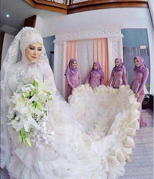 بالصور صور عروسات محجبات , اجمل صورة للعرايس المرتديه حجاب 4644 13
