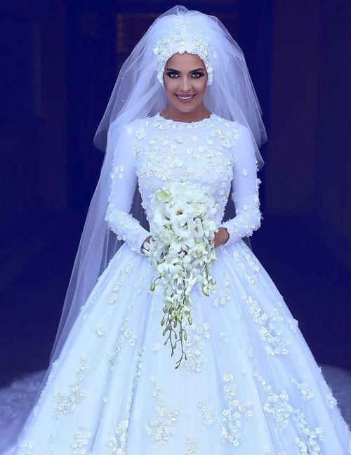 بالصور صور عروسات محجبات , اجمل صورة للعرايس المرتديه حجاب 4644 15