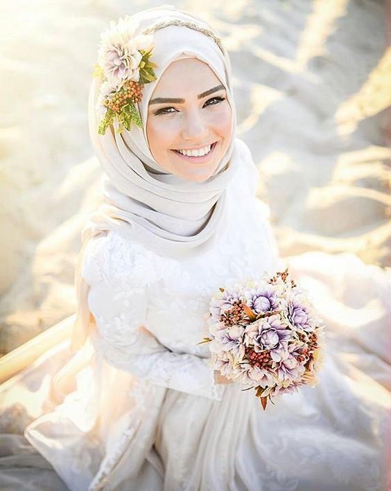 بالصور صور عروسات محجبات , اجمل صورة للعرايس المرتديه حجاب 4644 2