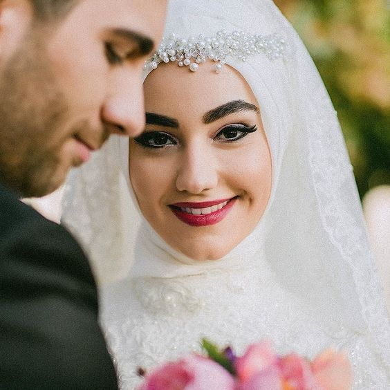 بالصور صور عروسات محجبات , اجمل صورة للعرايس المرتديه حجاب 4644 3