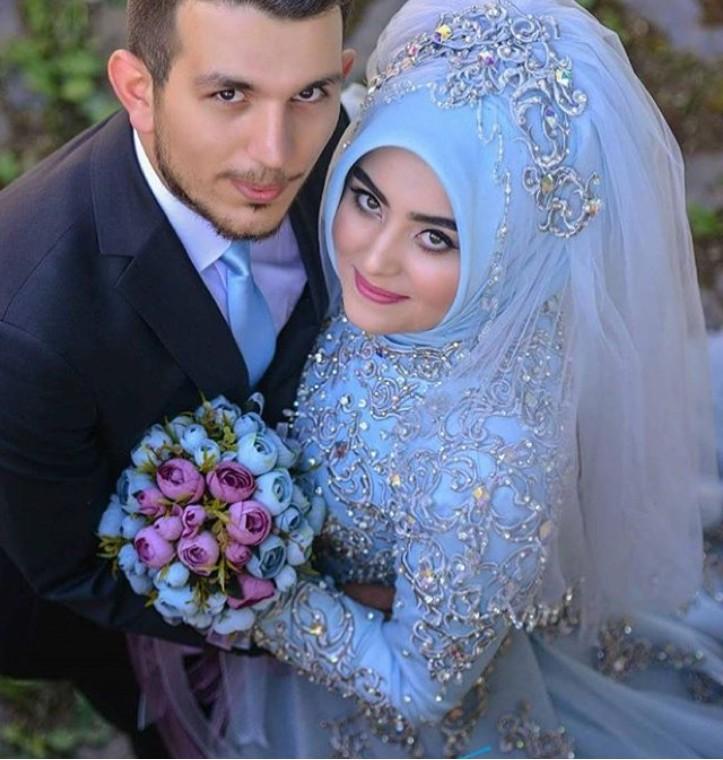 بالصور صور عروسات محجبات , اجمل صورة للعرايس المرتديه حجاب 4644 5