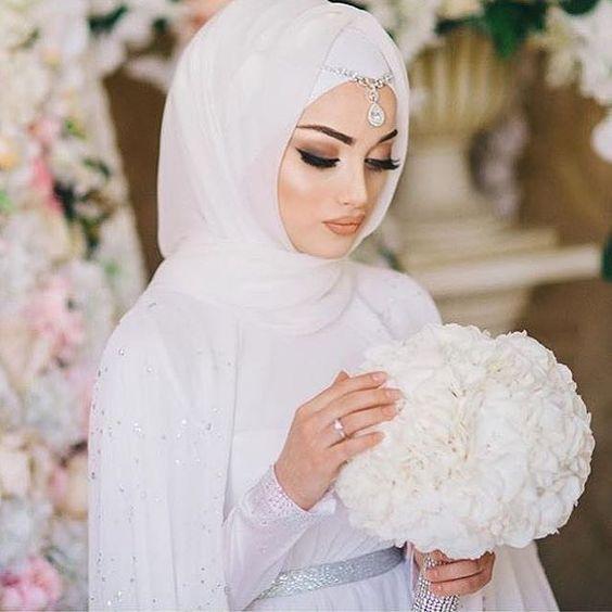 بالصور صور عروسات محجبات , اجمل صورة للعرايس المرتديه حجاب 4644 6