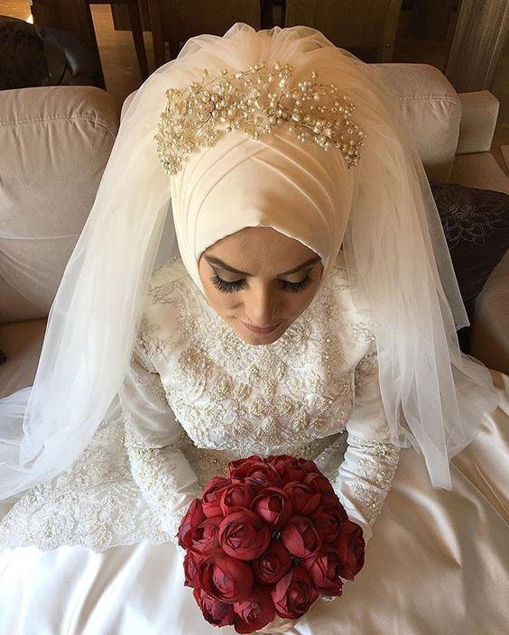 بالصور صور عروسات محجبات , اجمل صورة للعرايس المرتديه حجاب 4644 7
