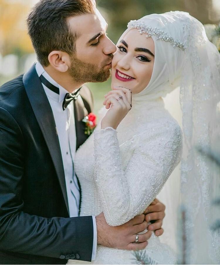 بالصور صور عروسات محجبات , اجمل صورة للعرايس المرتديه حجاب 4644 8