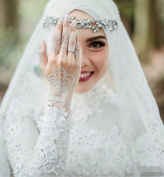 بالصور صور عروسات محجبات , اجمل صورة للعرايس المرتديه حجاب 4644 9