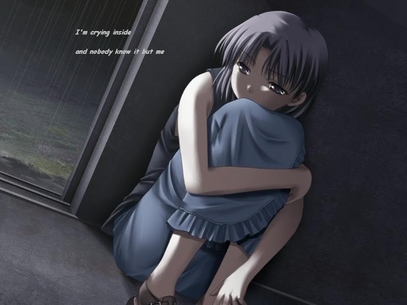 صورة انمي بنات حزينه , صوره حزينه جدا