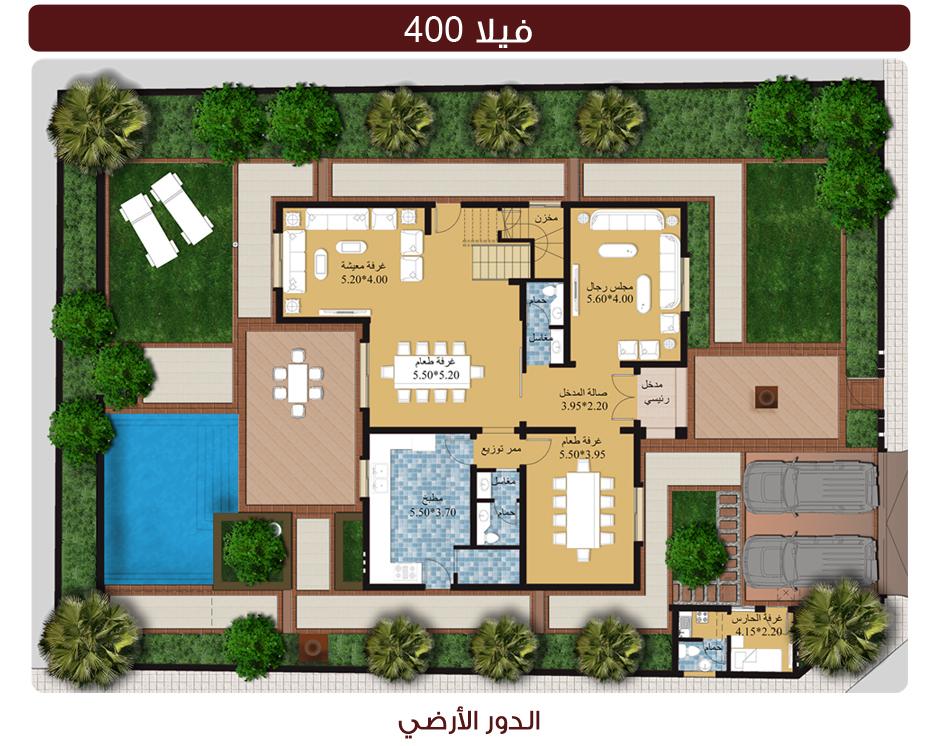بالصور خرائط منازل 400 متر مربع , منازل بمساحات شاسعه 4737 2