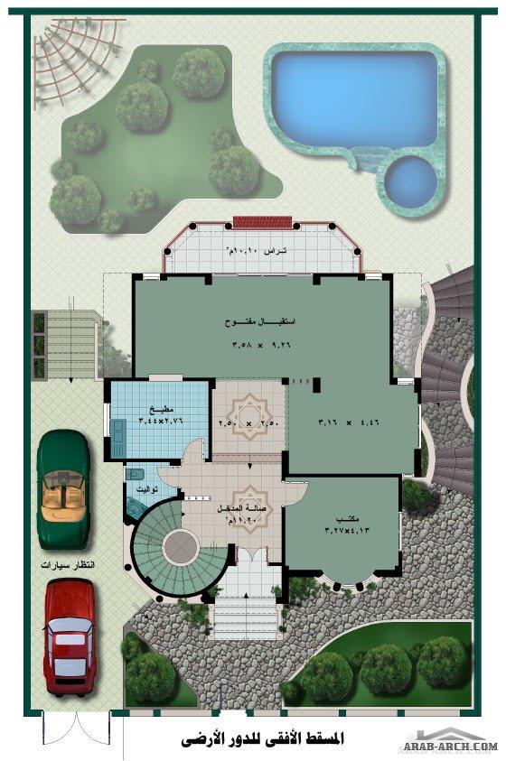 بالصور خرائط منازل 400 متر مربع , منازل بمساحات شاسعه 4737 4