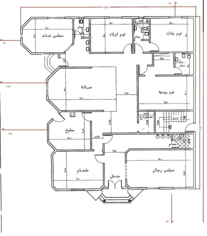 بالصور خرائط منازل 400 متر مربع , منازل بمساحات شاسعه 4737 6