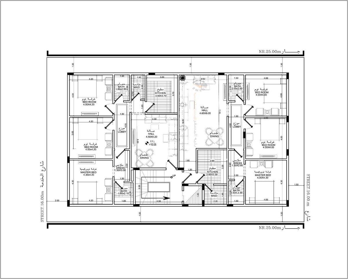 بالصور خرائط منازل 400 متر مربع , منازل بمساحات شاسعه 4737 8