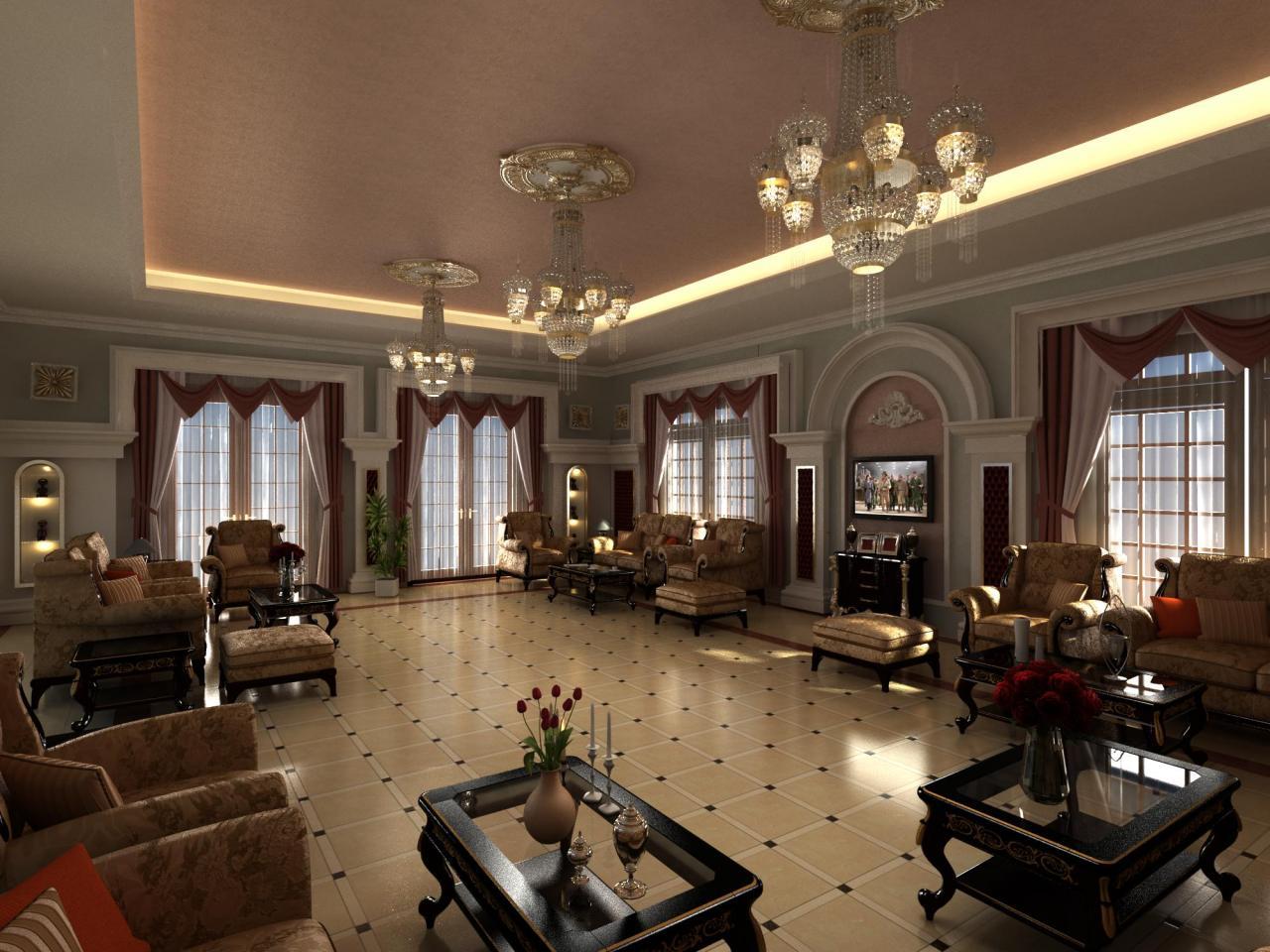 صورة ديكورات غرف ضيوف , تصاميم لللفينج روم