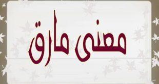 صور معنى كلمة مارق , معاني في المعجم الجامع