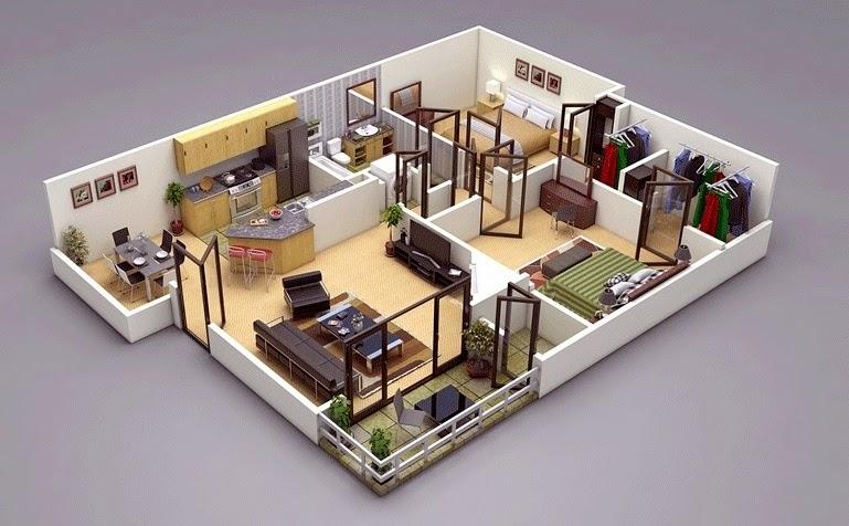 صور مخطط شقة 120 متر , ديكورات منازل متوسطه الحجم