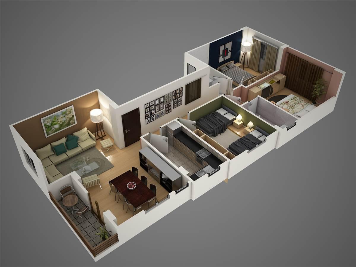 بالصور مخطط شقة 120 متر , ديكورات منازل متوسطه الحجم