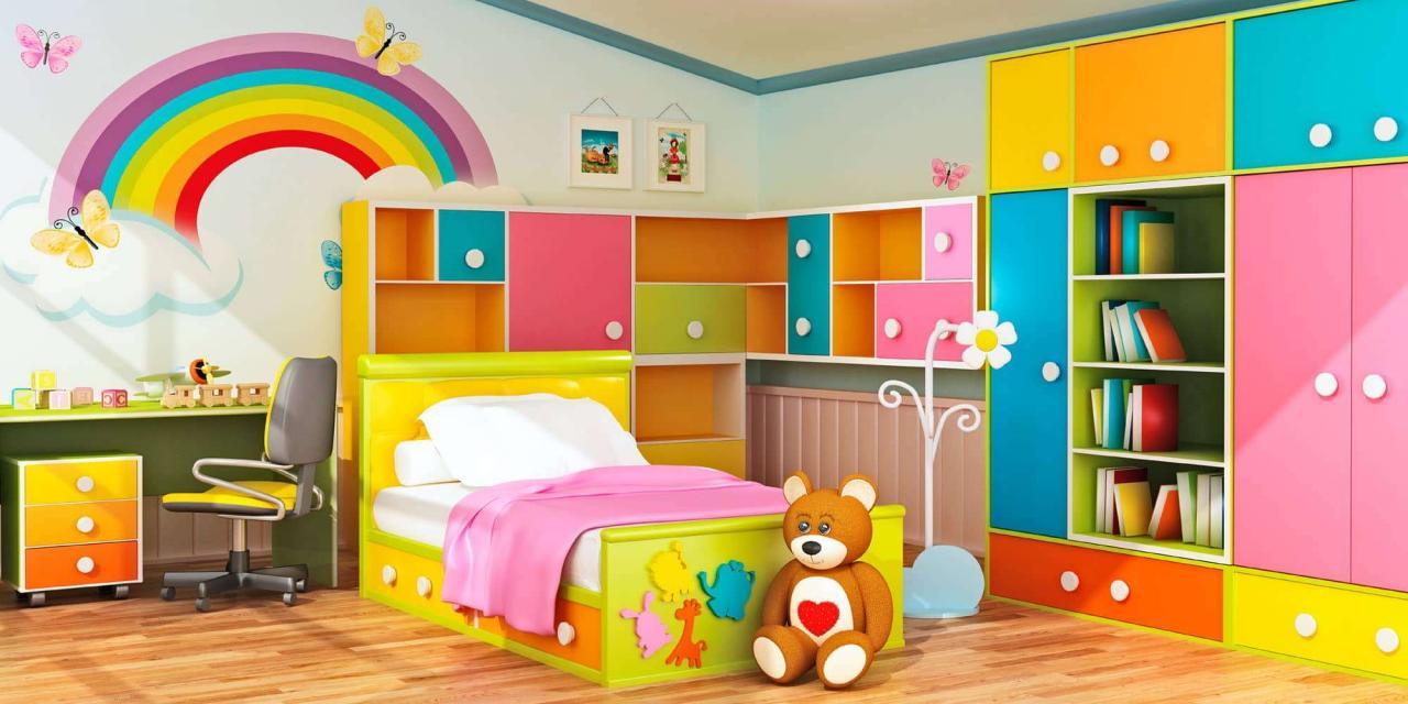 بالصور احدث دهانات غرف الاطفال 2019 , ديكورات الوان غرف اطفال 2445 10