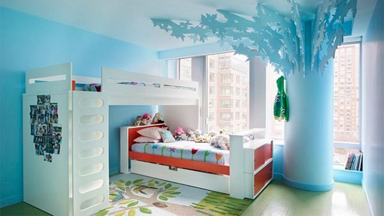 بالصور احدث دهانات غرف الاطفال 2019 , ديكورات الوان غرف اطفال 2445 4