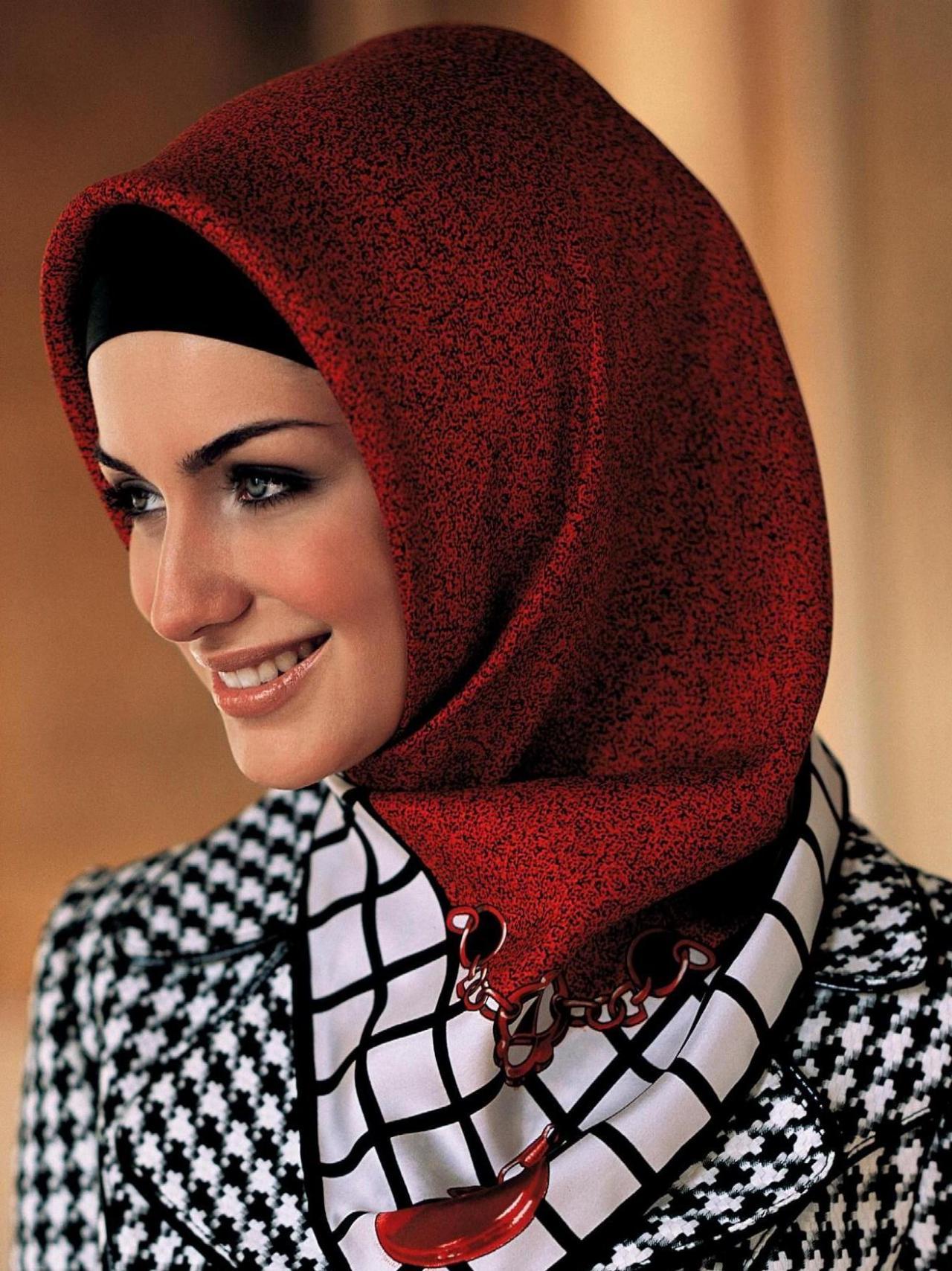 صورة طرق لف الحجاب التركي , لفات حجاب جديده وعصريه