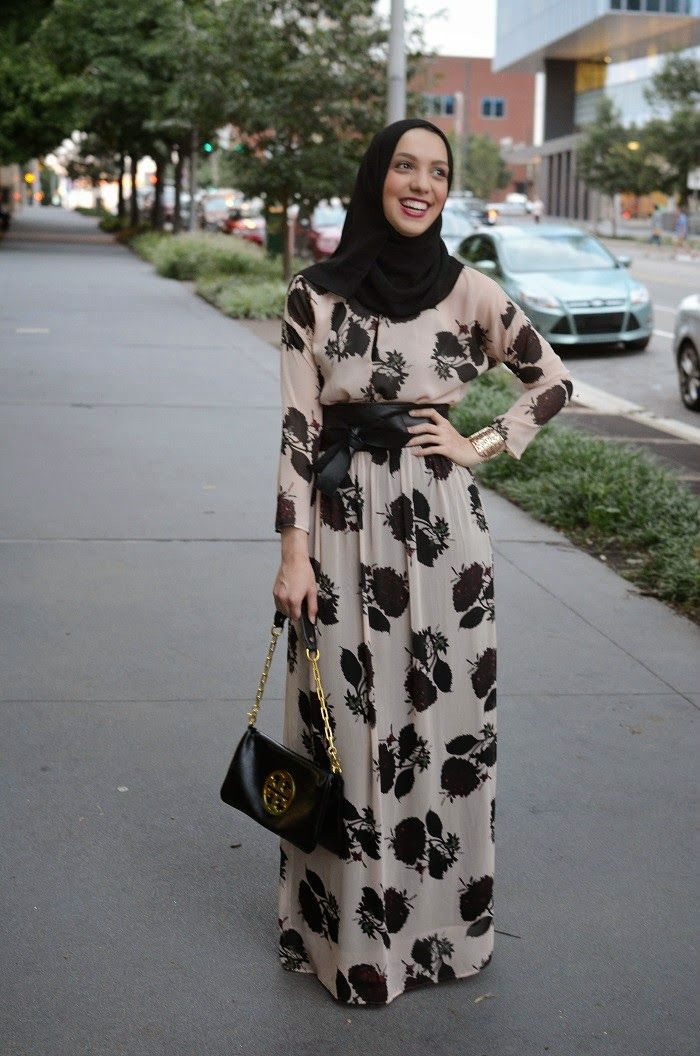 صور فساتين خروج صيفى للمحجبات , حجابك مصدر جاذبيتك