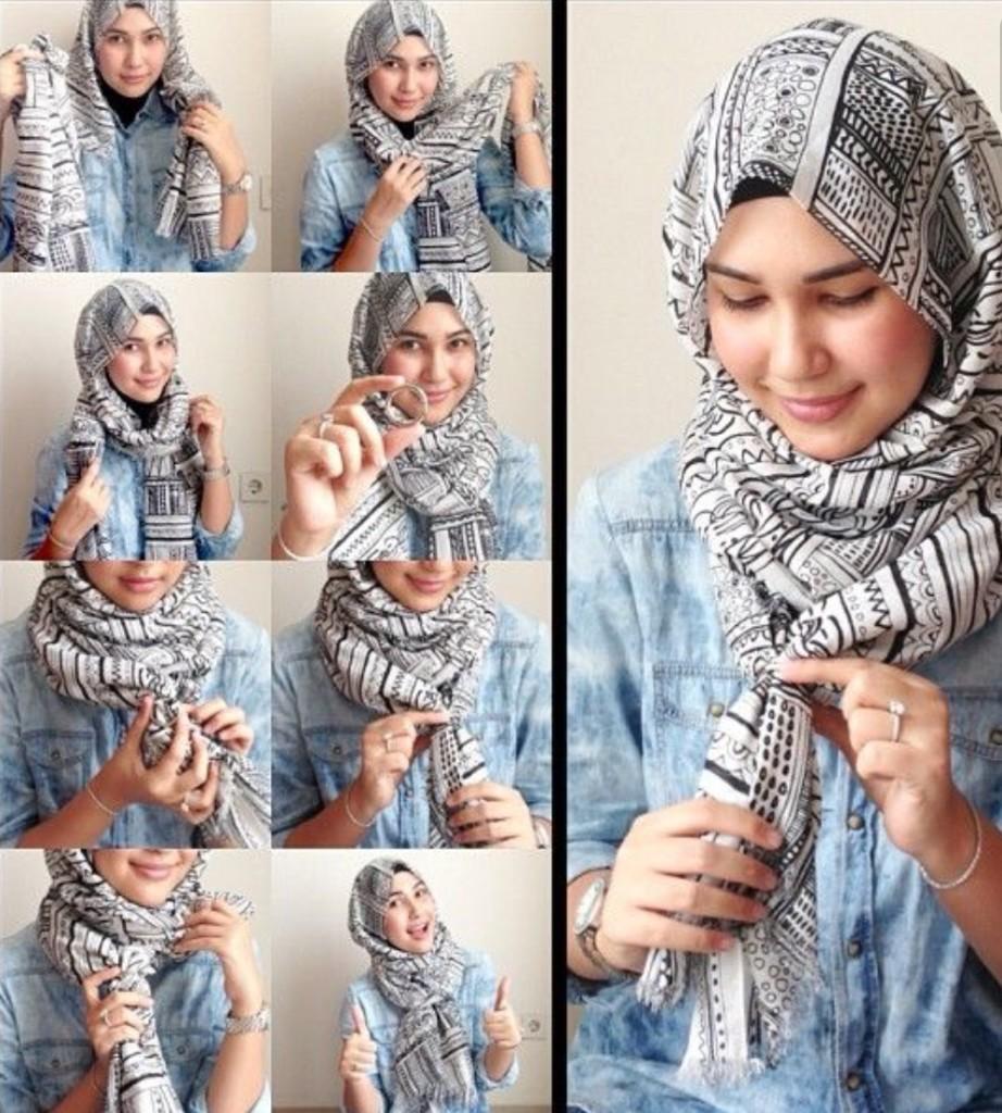 صورة كيف الف الحجاب , لفات للحجاب جميله