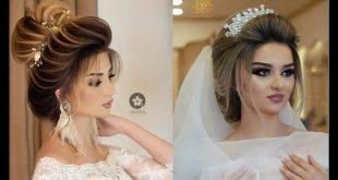 صور تساريح عرايس 2019 , موديلات الشعر ليوم الزفاف