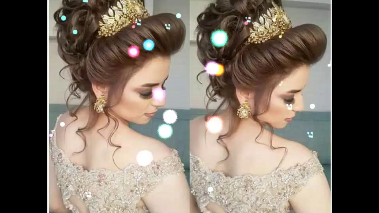 تسريحات شعر للاعراس 2021 شعرك هو جاذبيتك تسريحات للعرايس احضان الحب