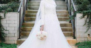 صور فساتين اعراس للمحجبات , اجمل فساتين زفاف للمحجبات