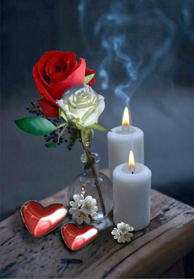 صور ورود وشموع وقلوب , احلى صورة رومانسيه دفاقه