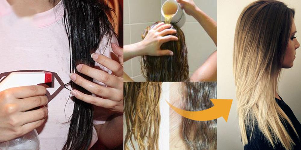 صورة تفتيح الشعر طبيعيا , تلوين وتفتيح درجات الشعر بمنتجات طبيعيه