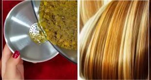 صور تفتيح الشعر طبيعيا , تلوين وتفتيح درجات الشعر بمنتجات طبيعيه