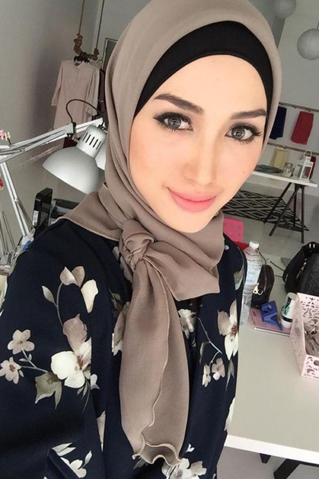 صور لفة حجاب للوجه الطويل , ابراز الوجه الطويل بلفات طرح تجنن
