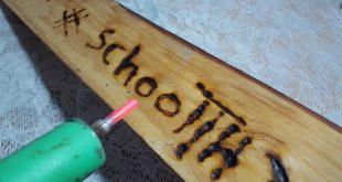 صور الكتابة على الخشب , الحفر والكتابه على الخشب