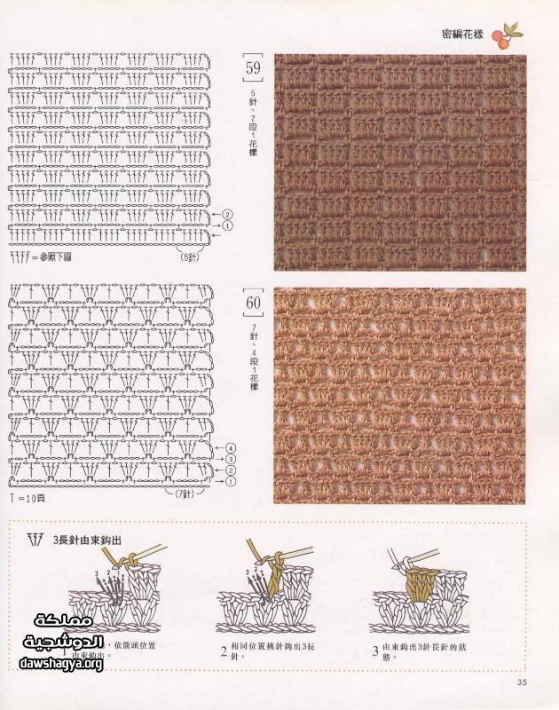 صورة انواع غرز الكروشيه وطريقة عملها بالصور , صور اجمل المشغولات اليدوية من الكروشيه