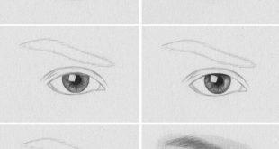 صور طريقة رسم العين بالصور , صور رسومات بسيطة للعين