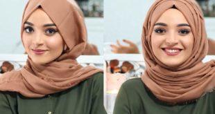 صورة لفات حجاب بالصور , اجمل صور لطرق لف الحجاب