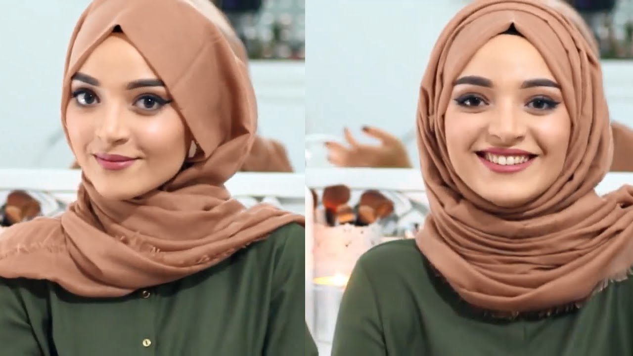 صور لفات حجاب بالصور , اجمل صور لطرق لف الحجاب