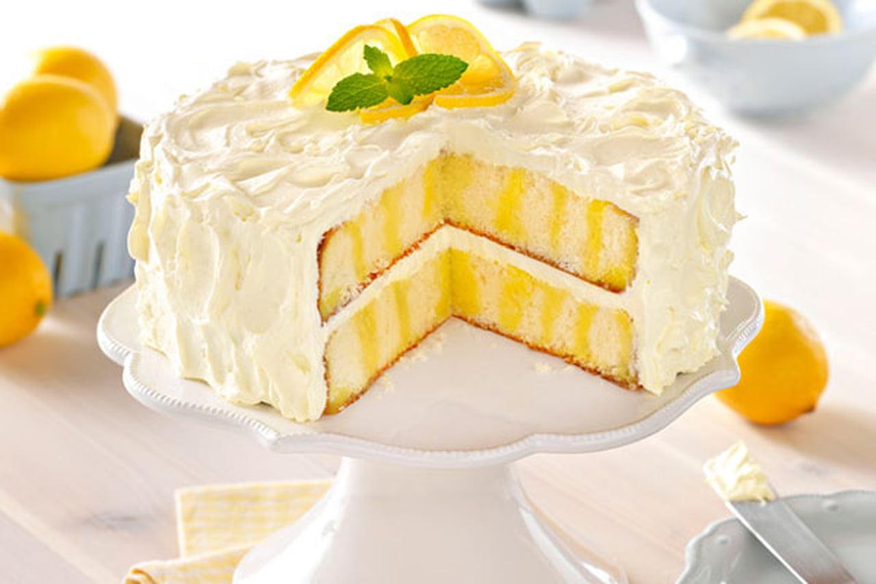 صورة كيكة الليمون بالكريمة , طريقه تحضير كيكه الليمون بالكريمة