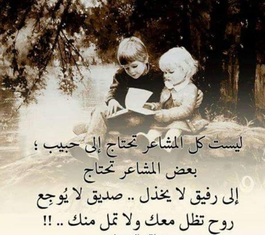 صورة الصداقة الحقيقية هي التي يشترك فيها العقل والقلب والضمير , انت صديقي الي الابد