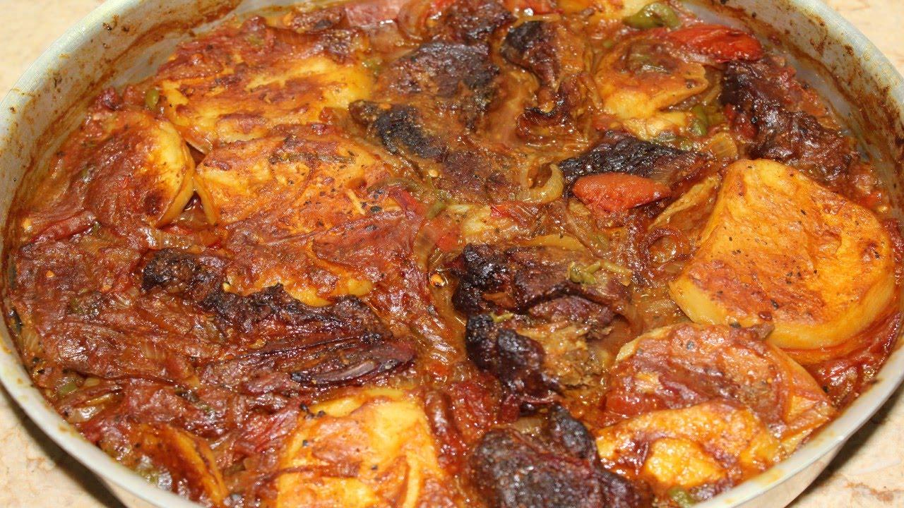 صورة طريقة عمل البطاطس في الفرن , اسهل وصفه لصينيه بطاطس في الفرن