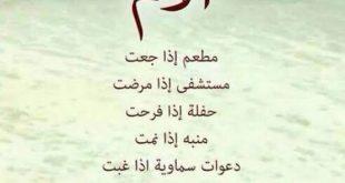 صورة اجمل الاشعار عن الام , اهدي الي امك بيت من الشعر