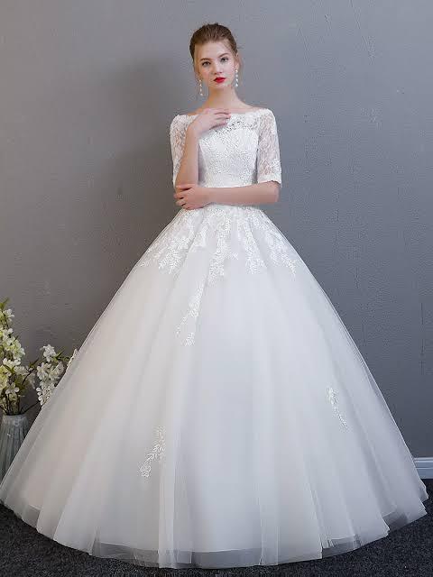 صورة فساتين زفاف دانتيل كم طويل , شاهدي اجمل فساتين زفاف دانتيل 10392 5