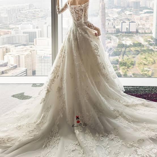صورة فساتين زفاف دانتيل كم طويل , شاهدي اجمل فساتين زفاف دانتيل 10392 7