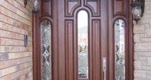 صورة ابواب خشب خارجية , غيري ديكور باب شقتك