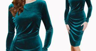 صورة موديلات فساتين قطيفة , فستان جديدة لهذا العام