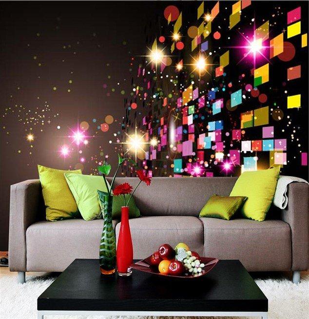 صورة احدث ورق حائط الوان , حوائط مش تقليدية